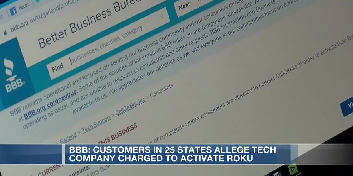 BBB: Customers in 25 states allege Roku scam