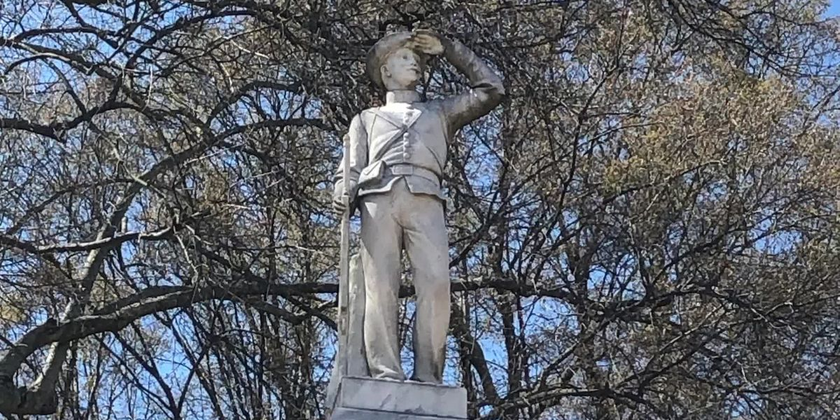 Confederate statue partially hidden after Ole Miss athletes said they didn't want to see it