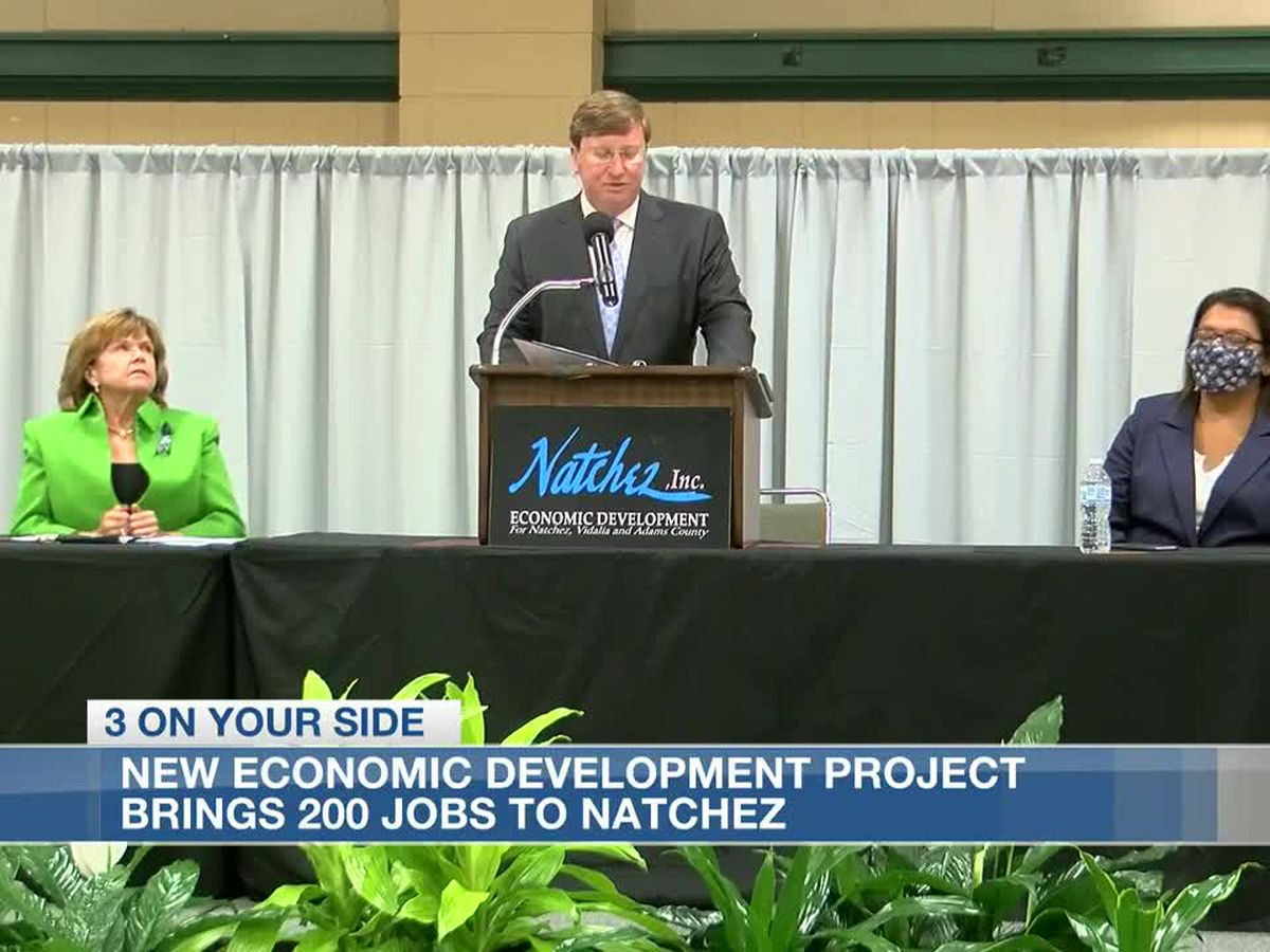 Economic development project to bring over 200 jobs to Natchez