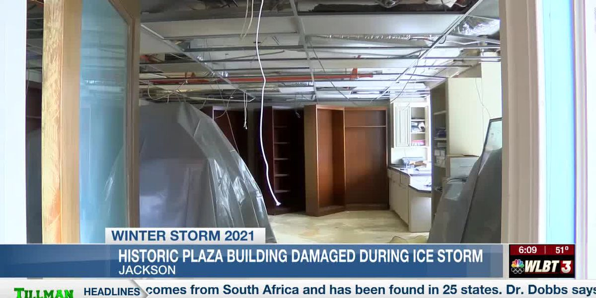 Winter storms damage historic downtown building, leaving businesses inside reeling