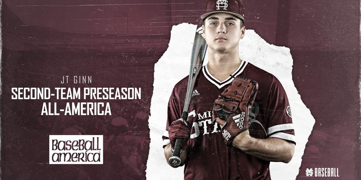 Mississippi State's Ginn named Preseason All-American by Baseball America