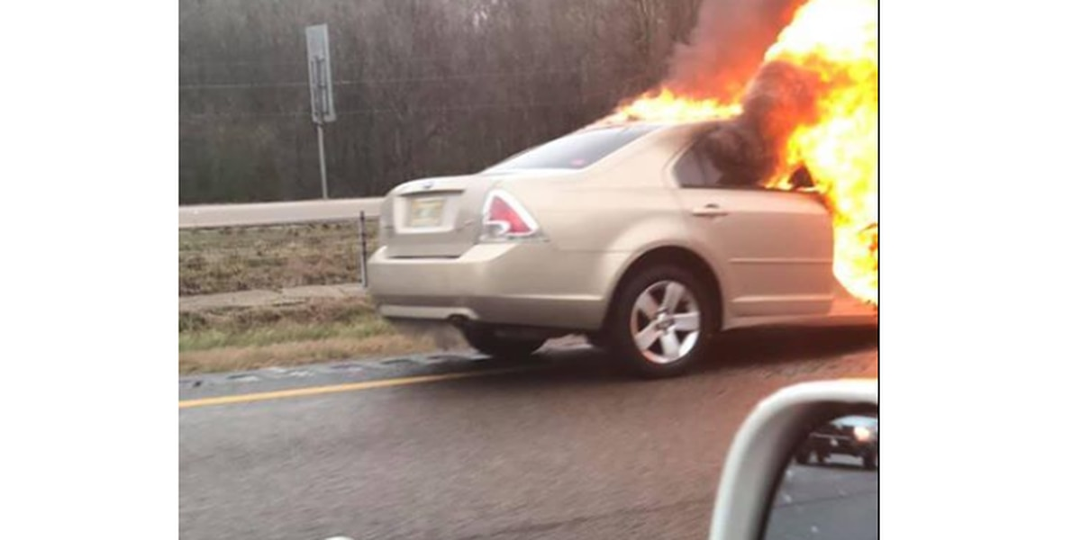 Car fire causing delays on I-220 NB past Hanging Moss Rd. exit