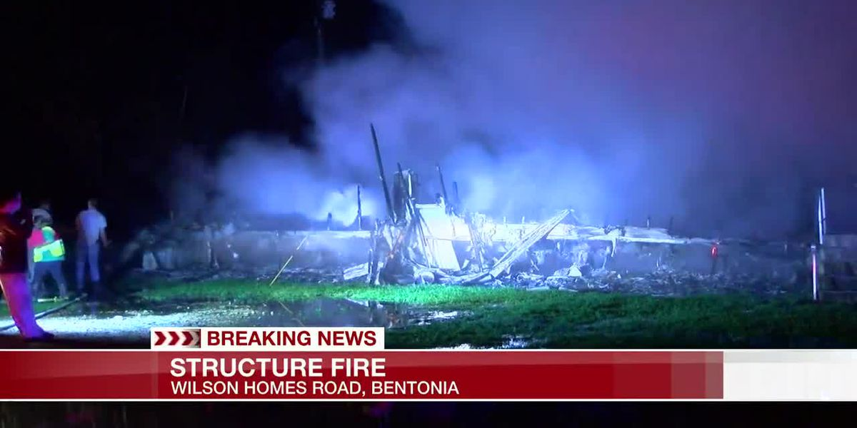 Structure catches fire in Bentonia