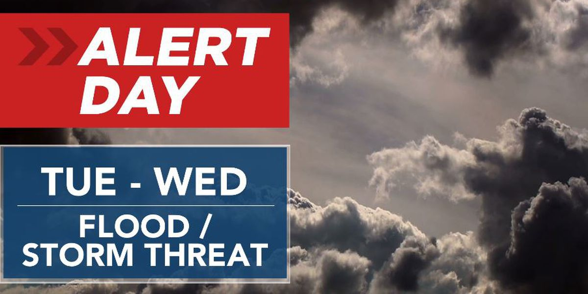 ALERT DAYS CONTINUE: Periods of rain today, storms return tomorrow