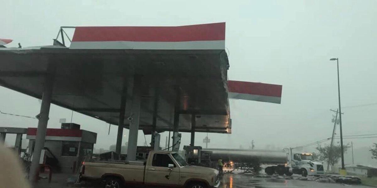 Storm damage in central Mississippi