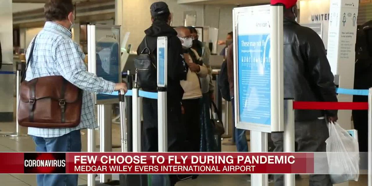 Amid pandemic concerns, passenger counts drop at Mississippi's largest airport