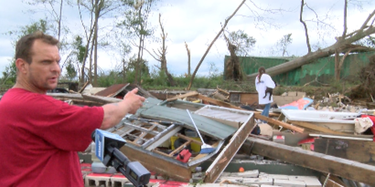 Jones Co. couple thankful after being trapped under tornado debris