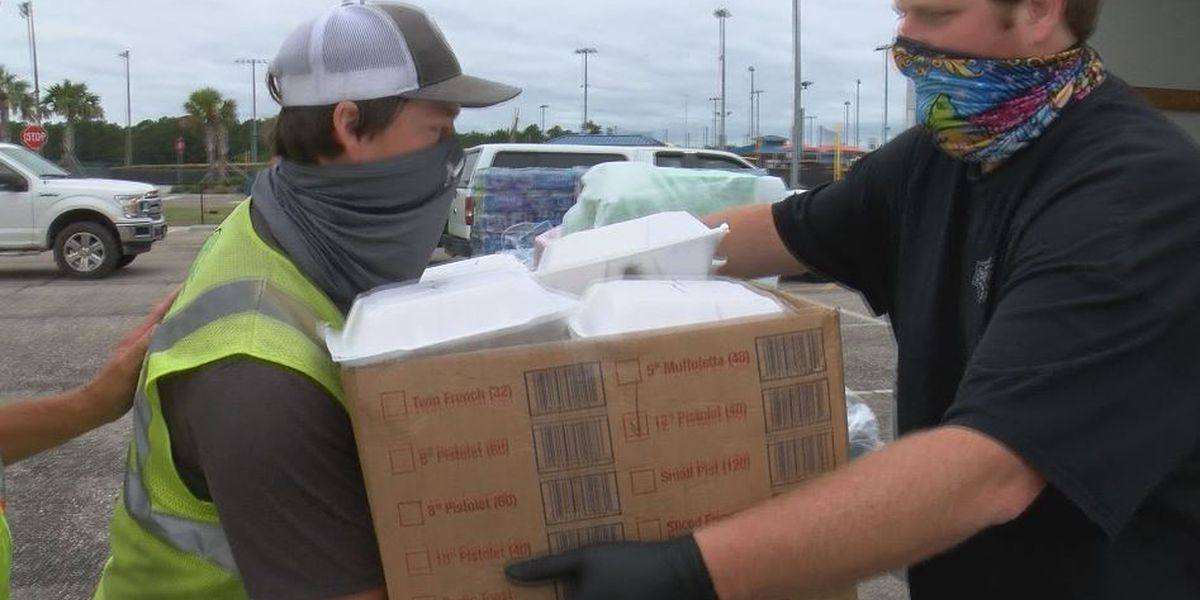 Mississippi Power prepared with supplies and food for working crews