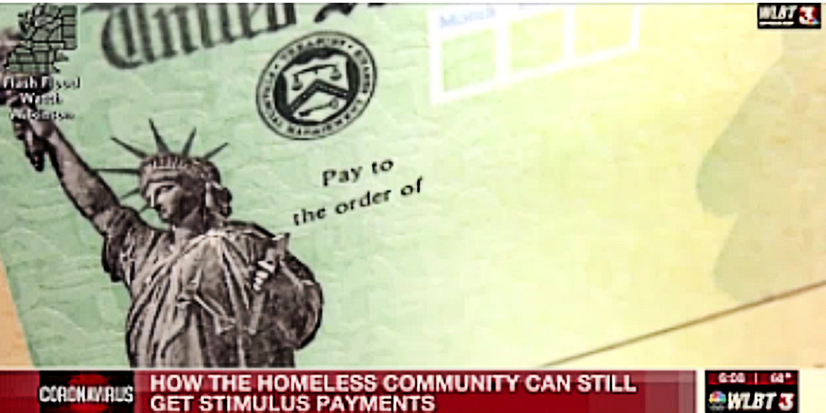 How the homeless can get a stimulus payment