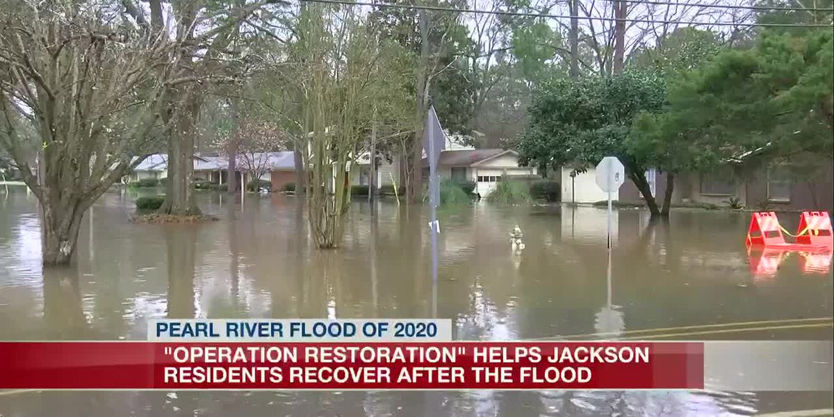 Jackson hosts event to give away cleaning supplies to flood victims