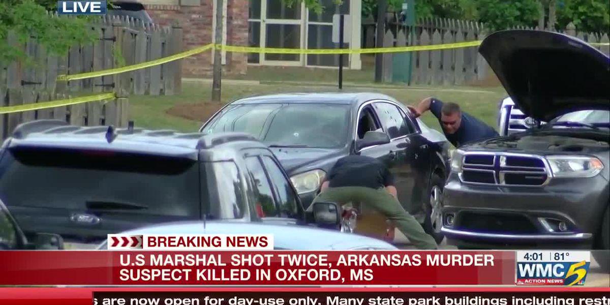 US marshal shot twice, Arkansas murder suspect killed in Oxford, Mississippi