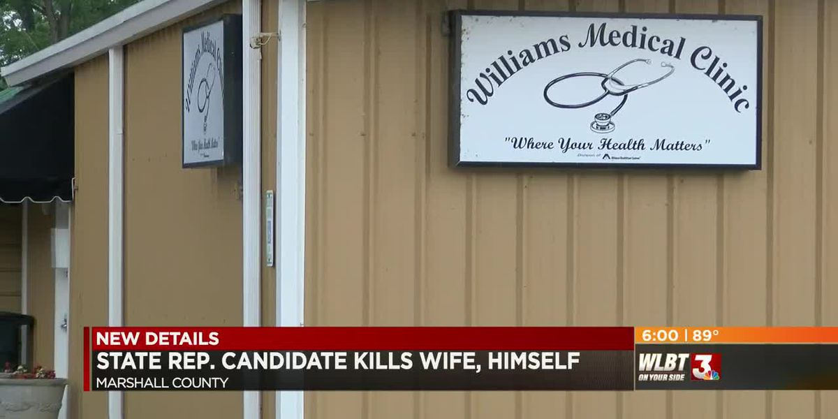 State representative candidate kills wife, himself inside Marshall Co. medical clinic
