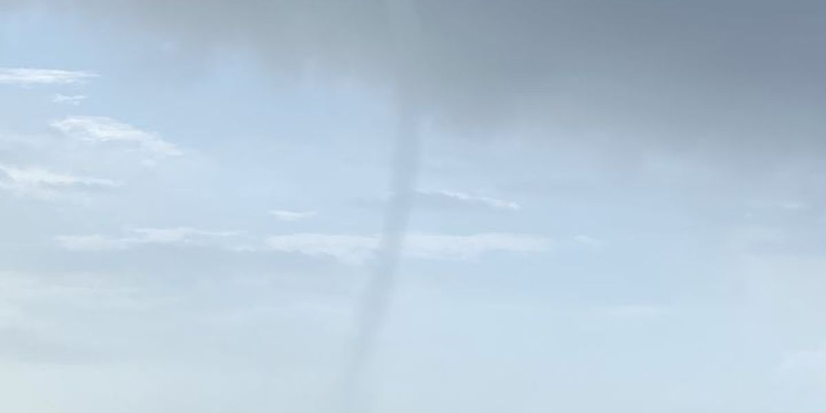 Waterspout seen making landfall in Gautier on Thursday morning