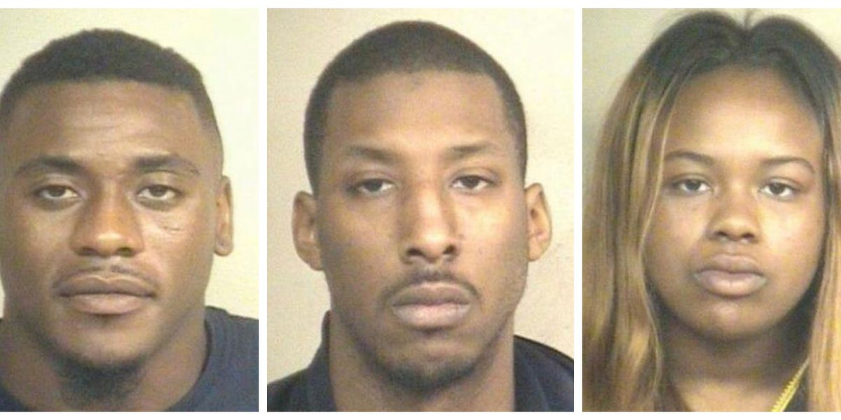 Three arrested after drugs, guns found during bust