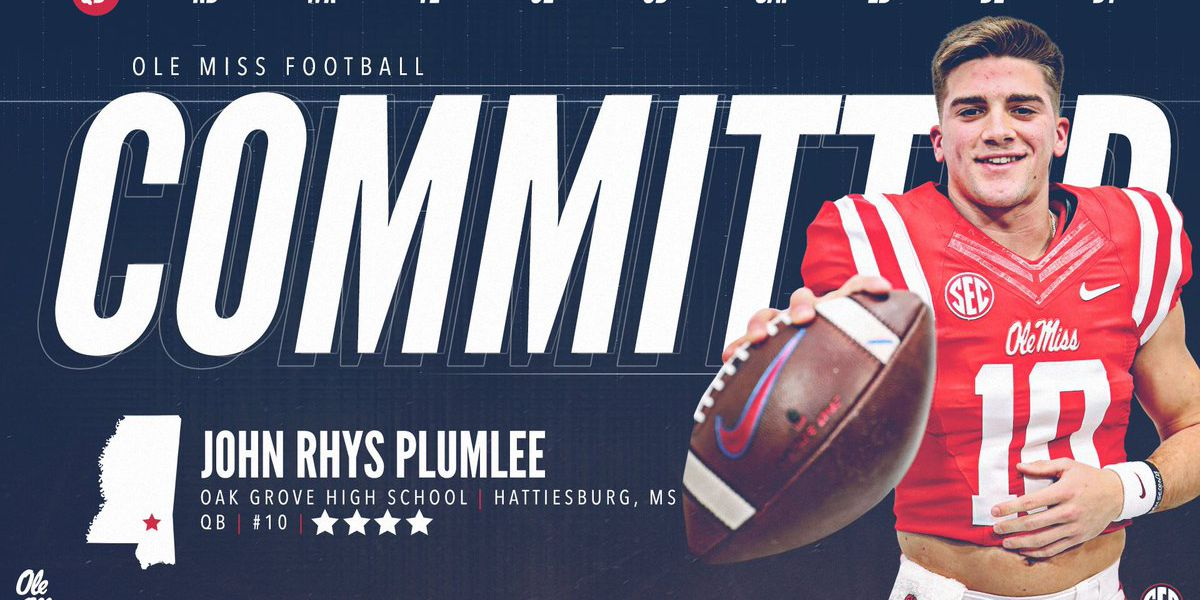 Oak Grove QB John Rhys Plumlee flips from Georgia to Ole Miss