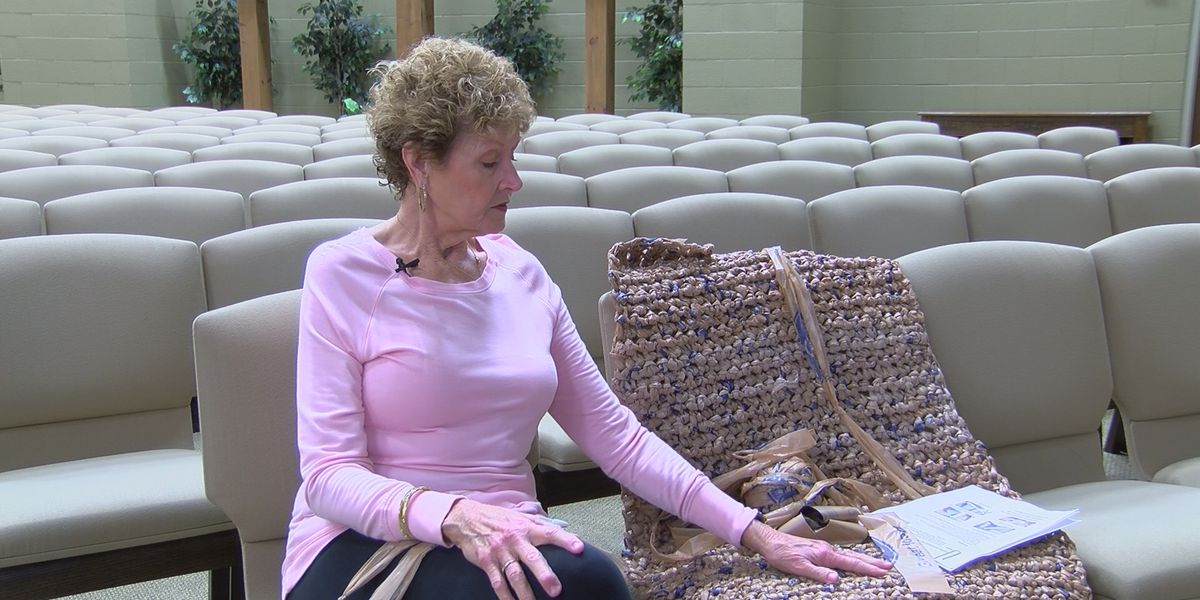 Local group knits mats for the homeless out of plastic bags