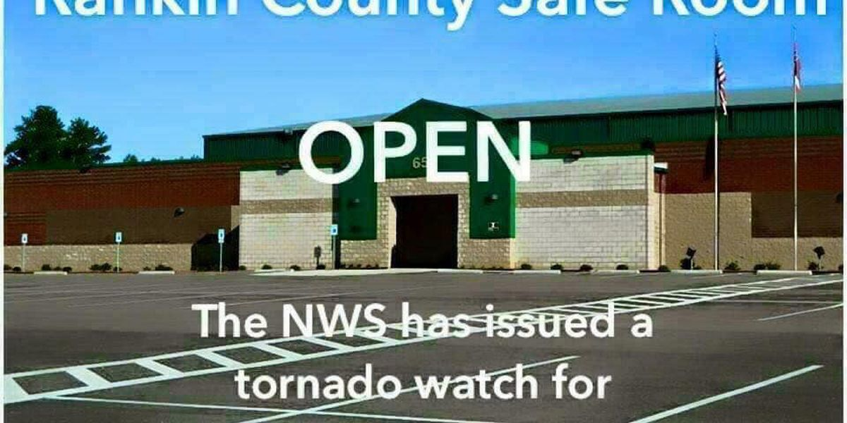 Storm safe room opens in Rankin County ahead of possible severe weather