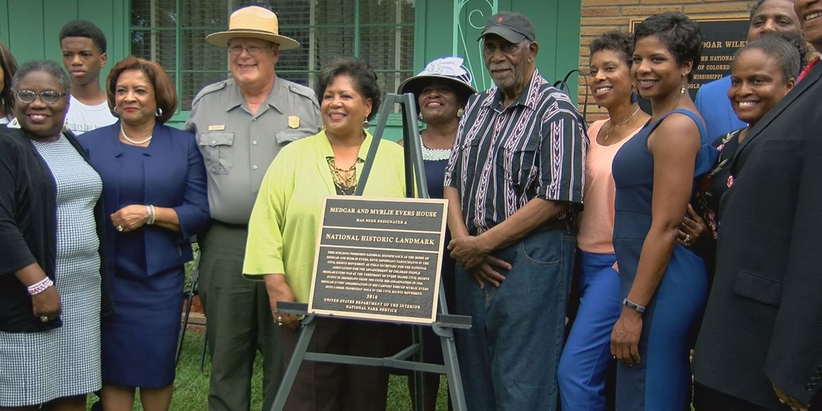 Medgar and Myrlie Evers Home receives national historic landmark designation plaque