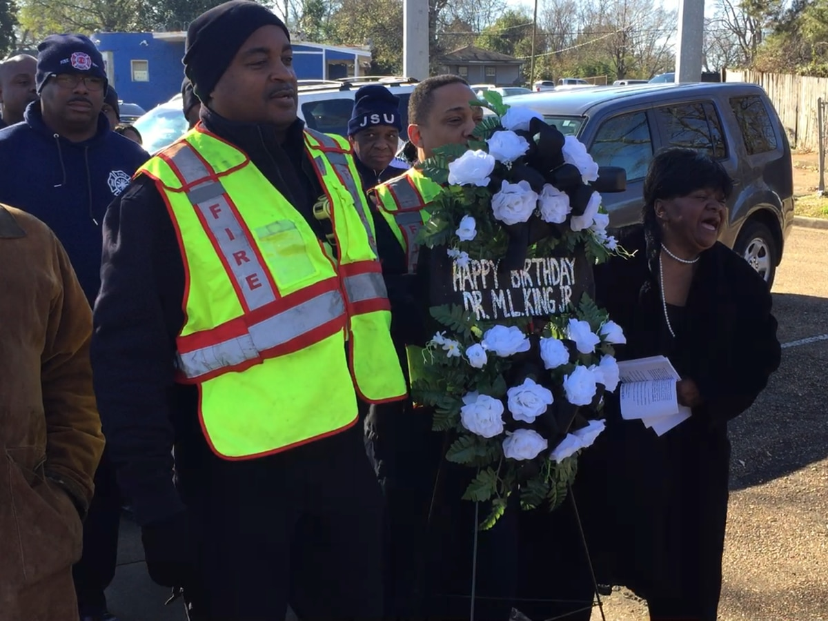 Remembering Dr. King through wreath laying ceremony