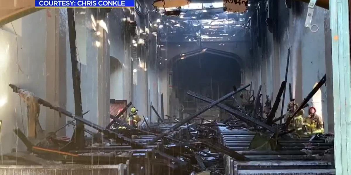 Much of Catholic church destroyed by fire during renovations for 250th anniversary