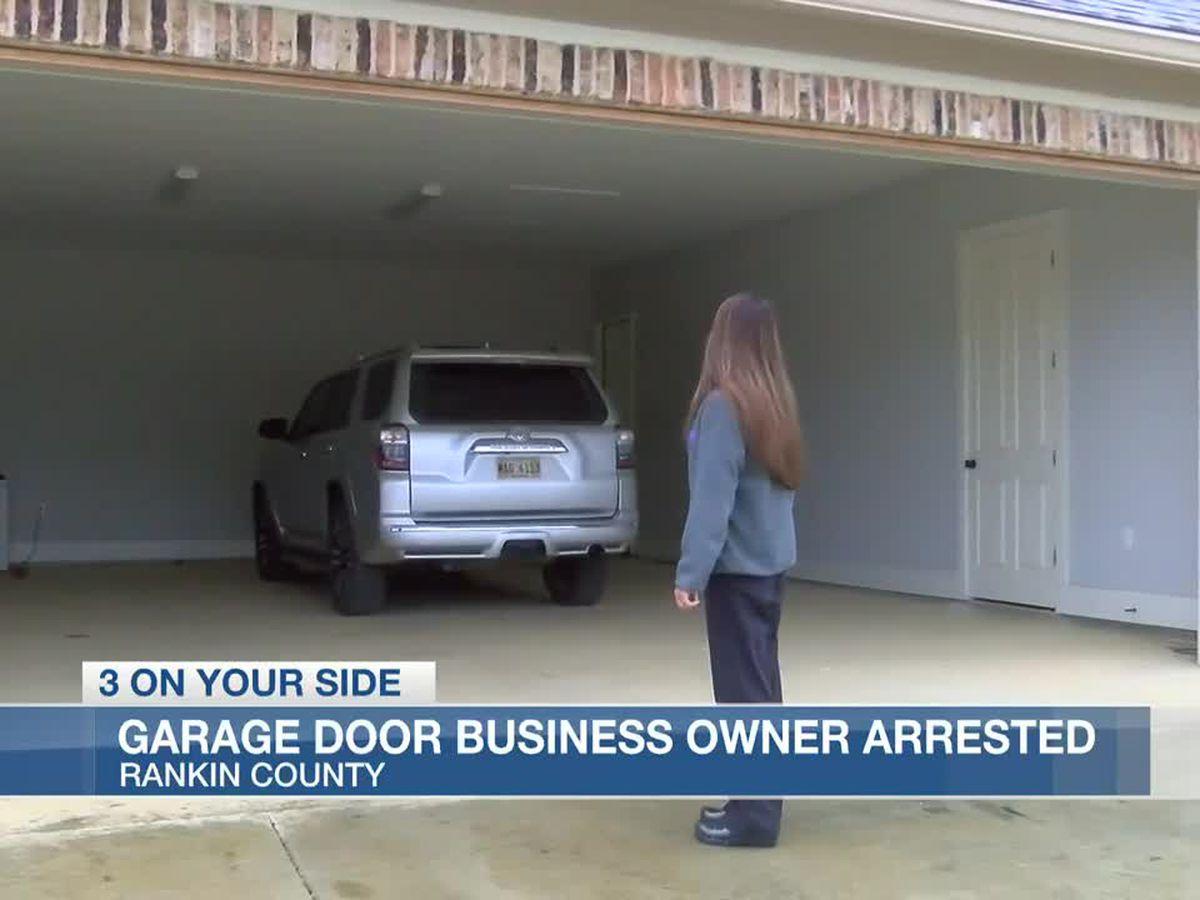 Garage door installer arrested for defrauding Brandon homeowners