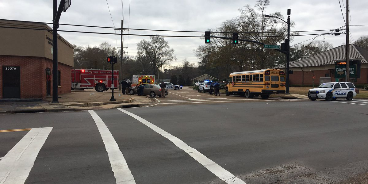 Pearl school bus involved in wreck