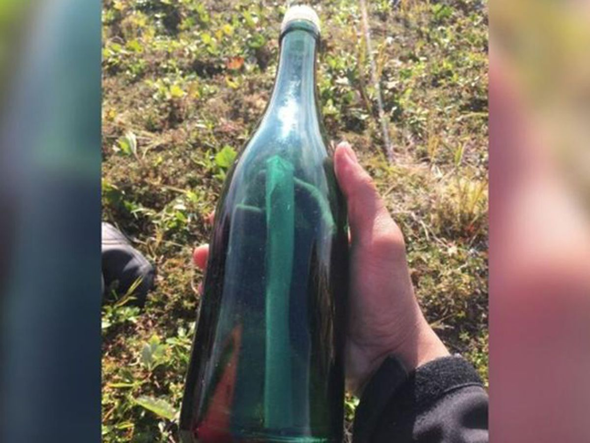 A man found a message in a bottle in Russian more than 50 years after it was sent. Russian media found the author.
