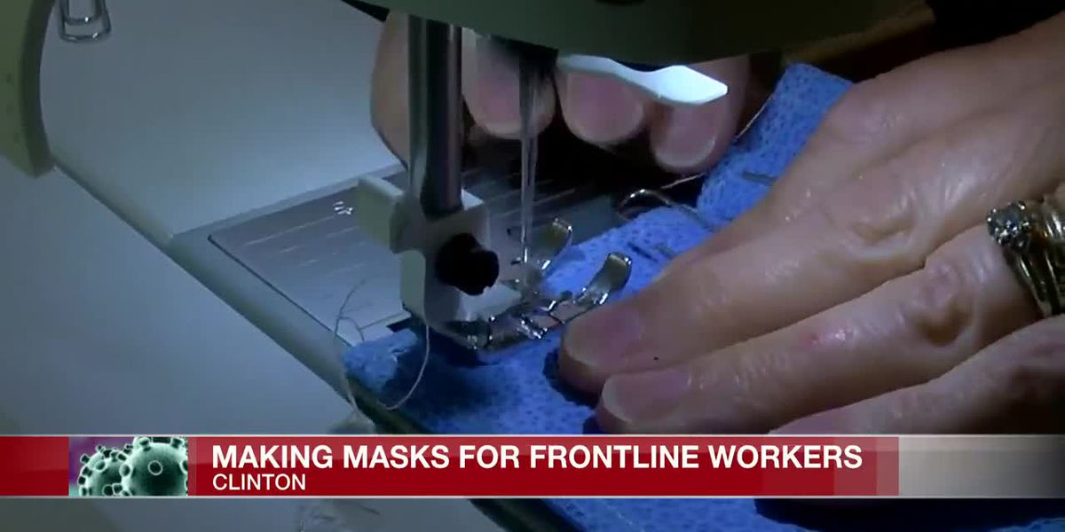 Locals join fight against coronavirus by making masks for healthcare workers