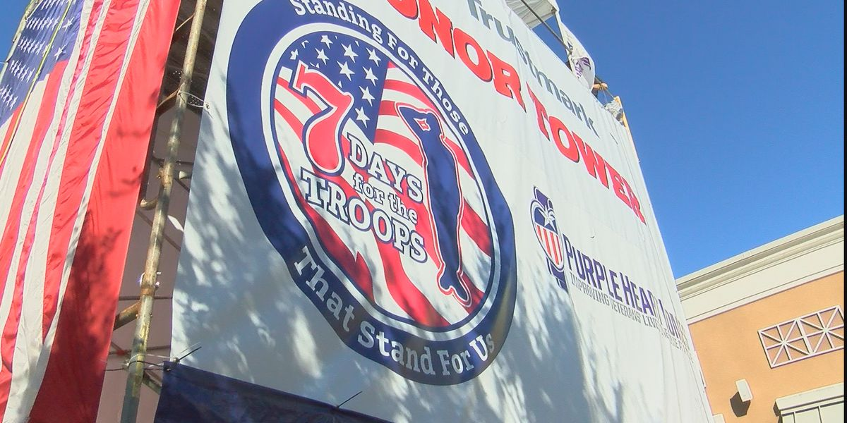 Wounded Marine veteran camps out for 7 days in Pearl to raise money for other vets
