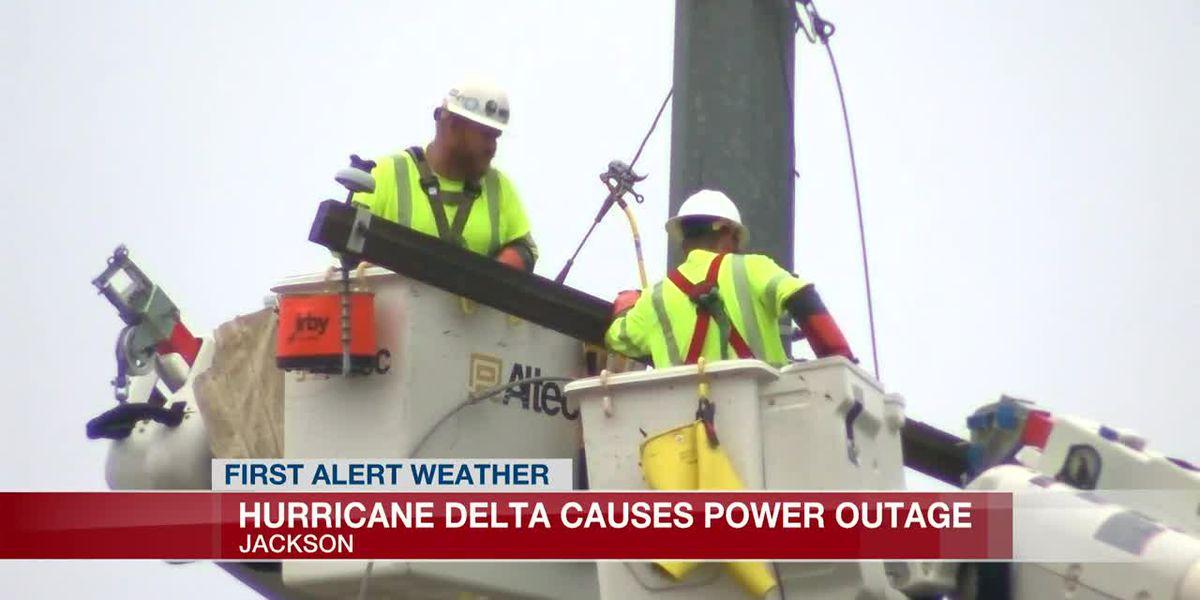 Crews work to restore power in the metro after Hurricane Delta