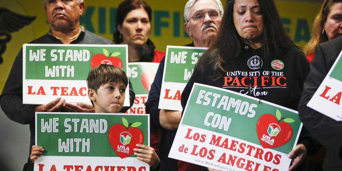 Los Angeles teachers are striking but schools are still open