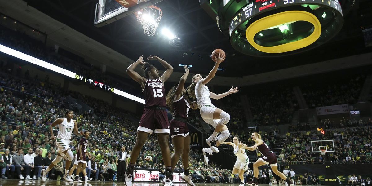 No. 7 Oregon Ducks down No. 4 Mississippi State 82-74