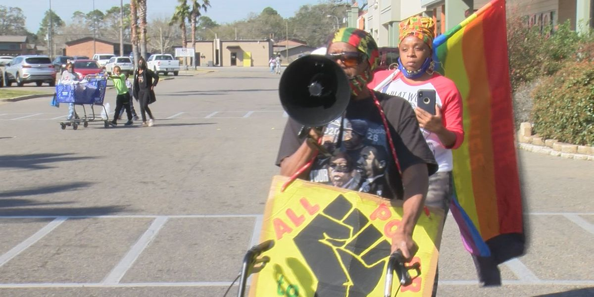 Claims of racial slurs at Gulfport store prompts protest
