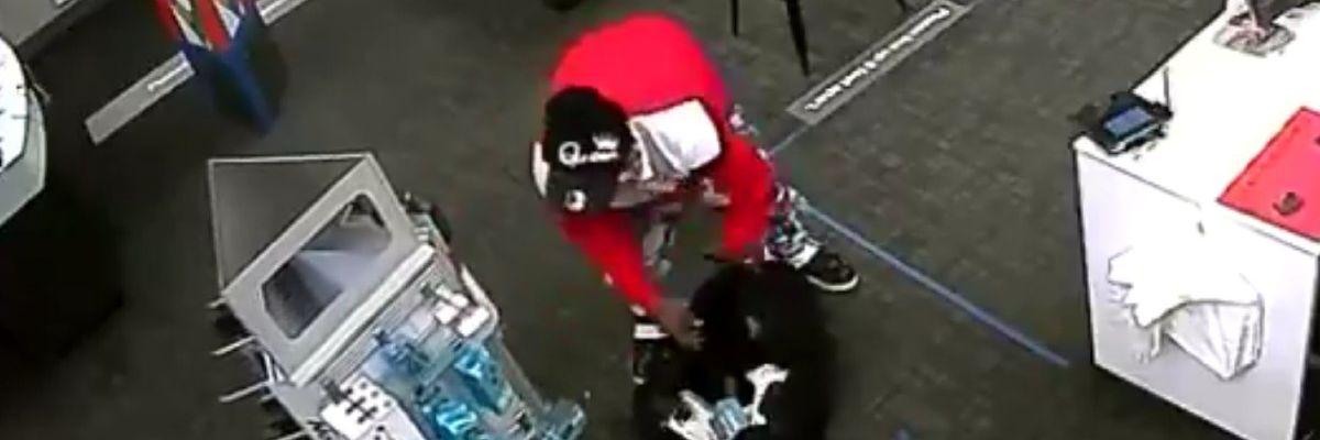Man wanted for burglarizing Jackson cell phone store