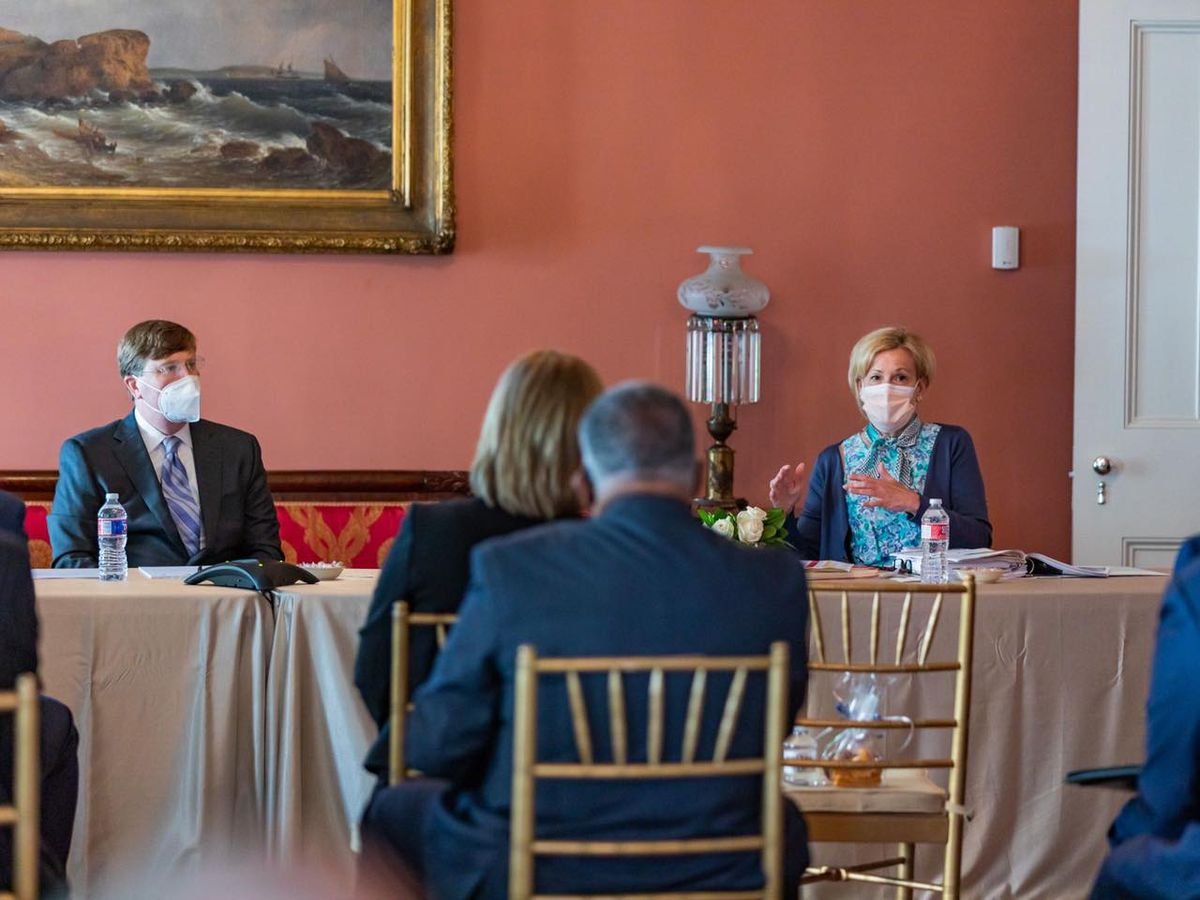 White House COVID-19 Task Force Coordinator Dr. Birx meets with Mississippi leaders