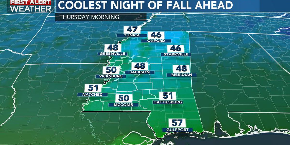 First Alert Forecast: Cooler days ahead as cold front moves away...