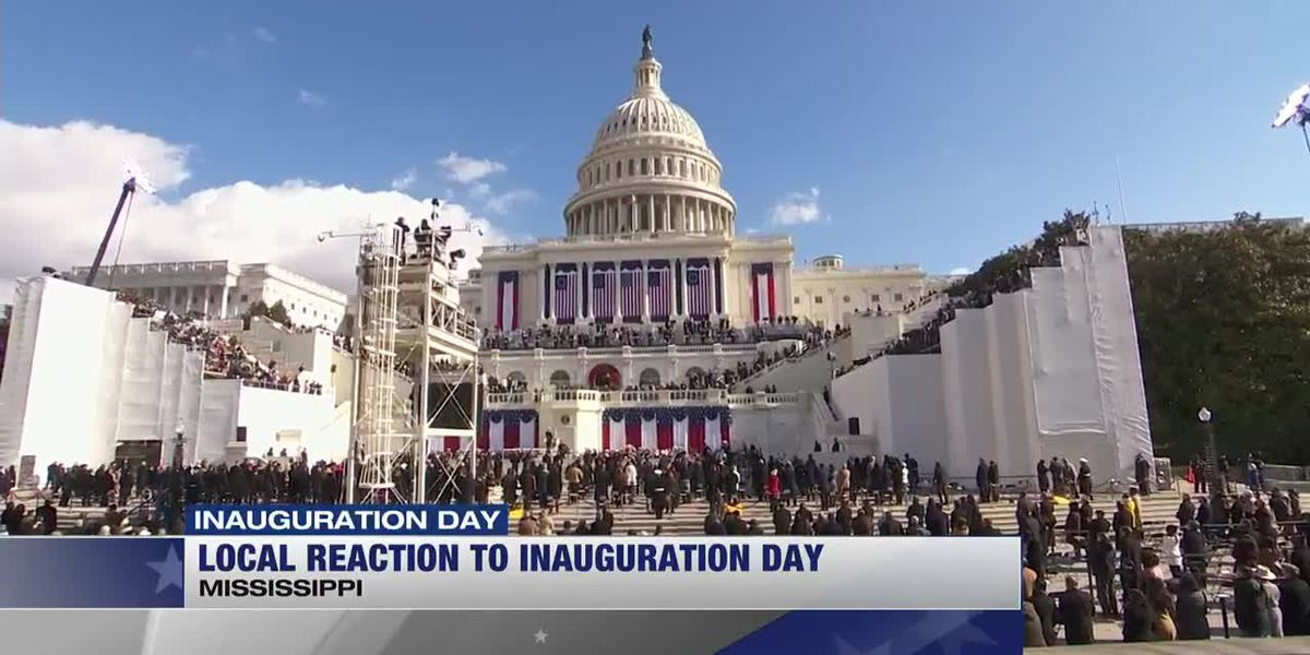 Local reaction to inauguration day