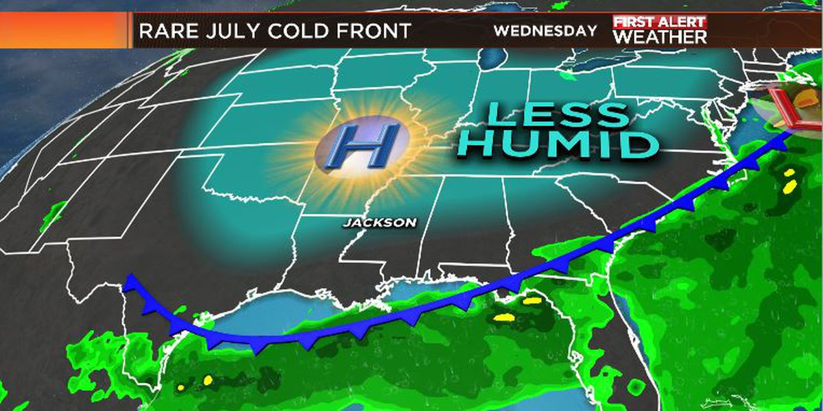 First Alert Forecast: Quick break from July heat & humidity arrives today!