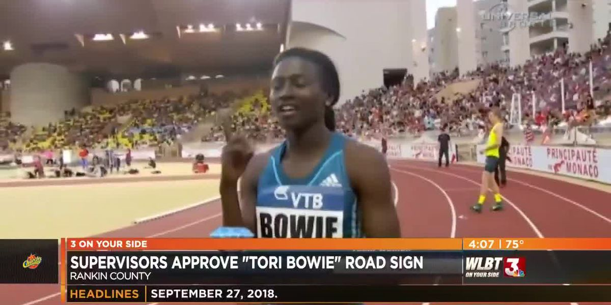 Sign honoring Torie Bowie to greet drivers on Highway 25