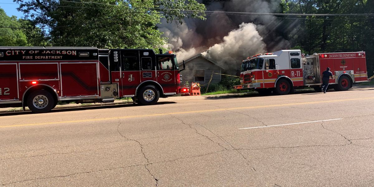 Firefighters battling blaze at home on Cooper Road
