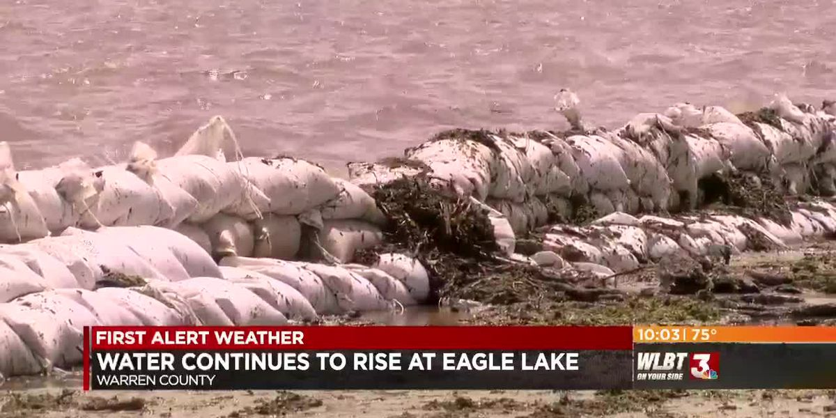 Water continues to rise at EAgle Lake