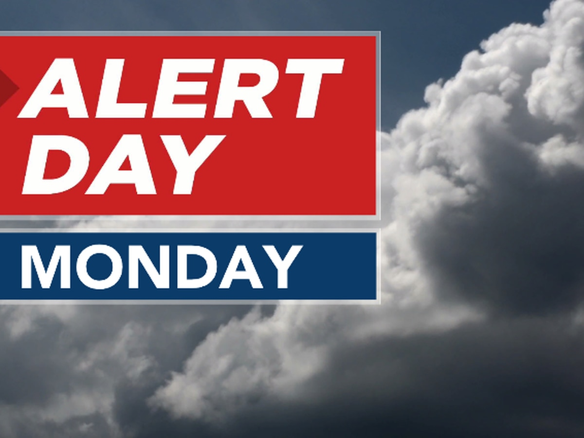 Warmer weekend ahead; ALERT DAY issued for Monday