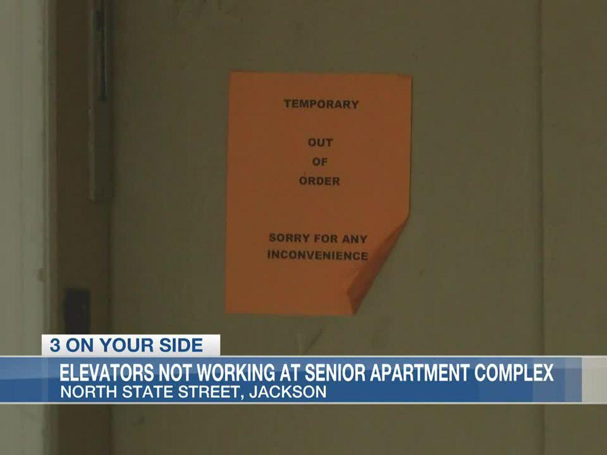 Elevators not working at Jackson senior apartment complex