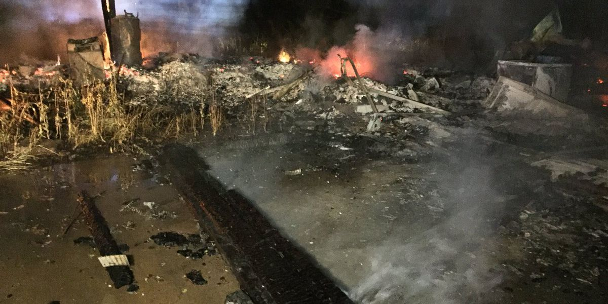 Abandoned house in Hinds County goes up in flames