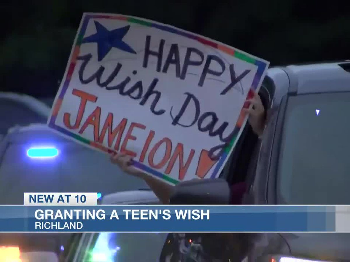 Wish comes true for Richland teen battling cancer
