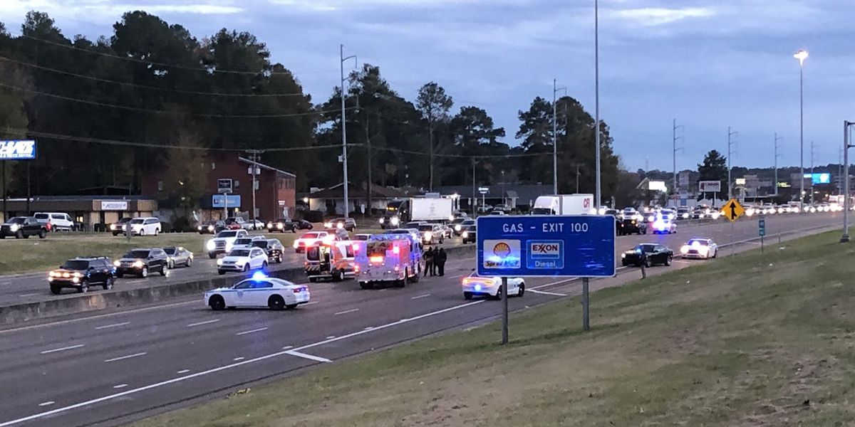 Section of I-55 shut down after pedestrian hit on highway