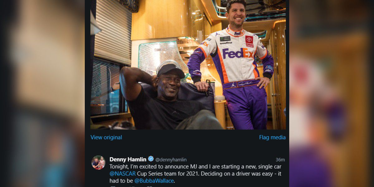 Michael Jordan and Denny Hamlin form new NASCAR team, sign Bubba Wallace