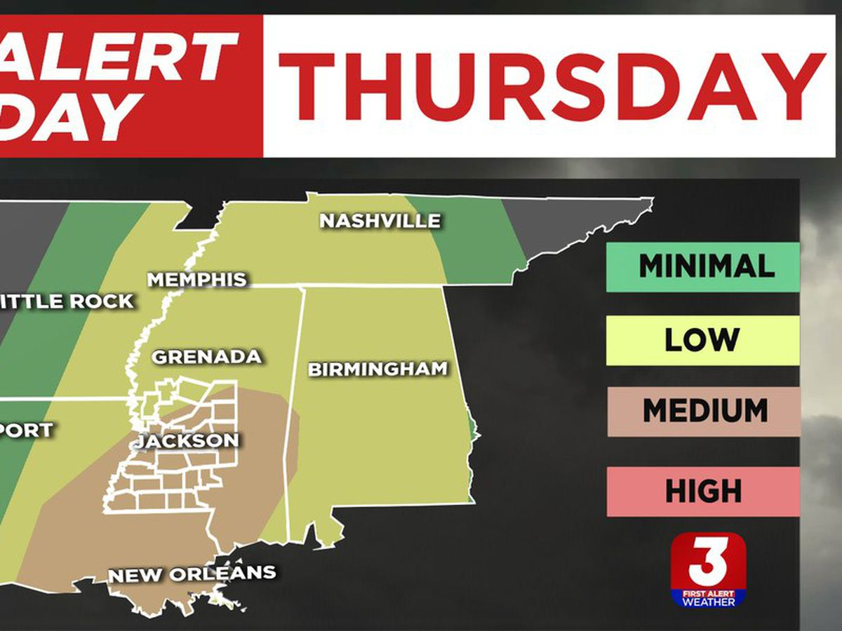 ALERT DAY: strong storms possible Thursday afternoon