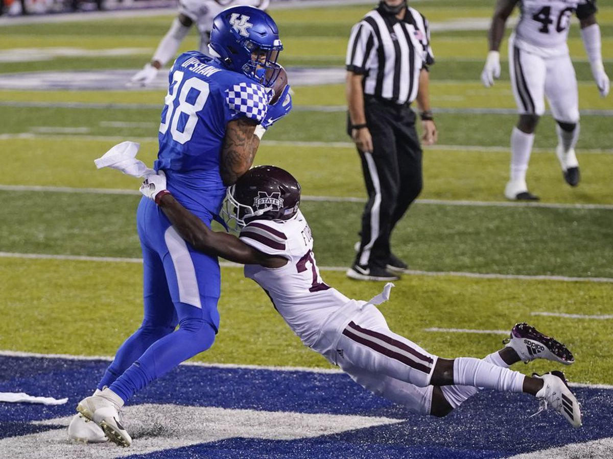 Kentucky intercepts 6 passes to beat Mississippi State 24-2