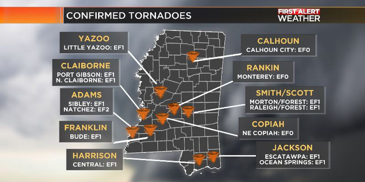 NWS confirms two more tornadoes; up to 14 across state following Thursday's severe weather